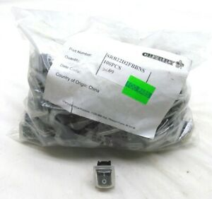 Lot Of 100 New Cherry Srb22d2fbbns Membrane Rocker Switchs On off 125v 20a