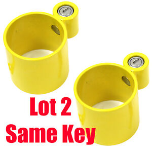 Lot 2 Same Key Anti Theft King Pin Lock 4 Container Trailer Rv 5th Wheel Camper