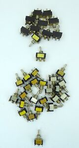 Lot Of 34 Model Railroad Toggle Off on Switches Center Off 11 Dpdt E3 23 Spdt E7
