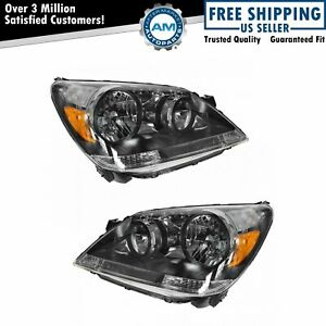 Headlights Headlamps Left Right Pair Set New For 05 07 Honda Odyssey