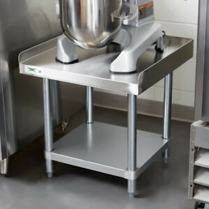 24 X 24 Stainless Steel Work Kitchen Table Commercial Equipment Mixer Stand