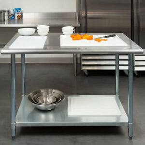 New 30 X 48 Stainless Steel Work Prep Table Adjustable Undershelf Restaurant