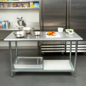 New 30 X 60 Stainless Steel Work Prep Table Adjustable Undershelf Restaurant