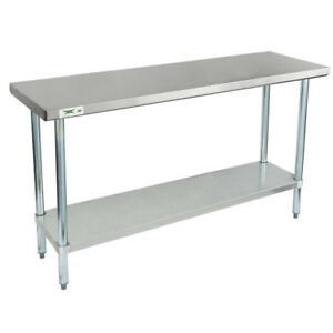 New Commercial 18 X 60 Stainless Steel Work Prep Table With Undershelf Kitchen
