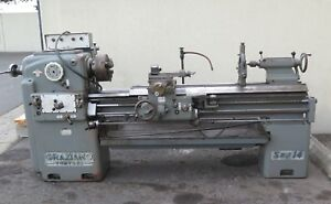 Graziano Sag14 Gap Bed Engine Lathe 15 X 60 W 5c Collet Closer Nice