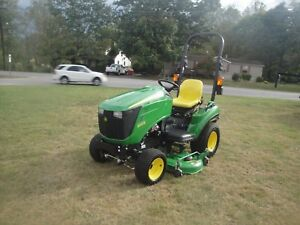Very Nice John Deere 1023e 4wd Tractor Auto Connect Mower Deck