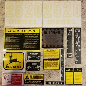 John Deere 2520 Complete Decal Set