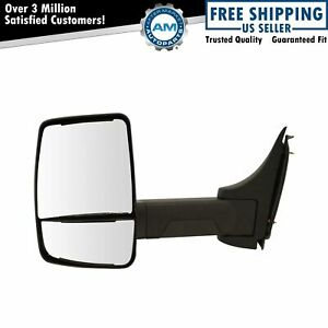 Tow Mirror Manual Textured Black Driver Left Lh For Gm Cutaway Van Box Truck New