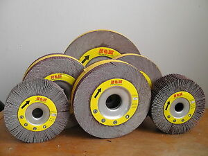 10 Flap Sanding Wheel 6 inch X 2 X 1 A o 180 Grit Unmounted Wholesale