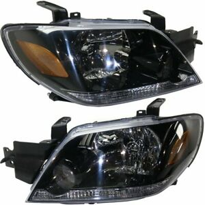 Halogen Headlight Set For 2003 2004 Mitsubishi Outlander W Bulbs Pair Capa