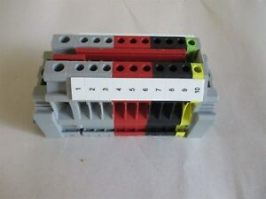 New Phoenix Contact Terminal Block 10 Ports Typ E ns 35 N End Caps Nos Unit