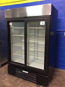 Beverage Air Lv45 1 b Black 2 Door Cooler Merchandiser Refrigerator
