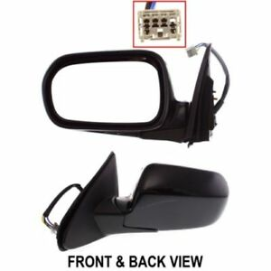 04 06 Acura Rsx Power Electric Heated Manual Folding Lh Driver Side Mirror