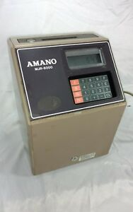 2 Amano Mjr8000 Programmable Time Clock Recorder 250 Employee overtime Tracking