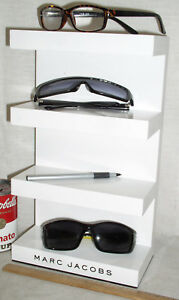 Used Marc Jacobs Eyewear Eyeglass Store Advertising 4 Tier Display Stand Shelf