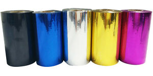 Hot Stamping Foil Paper Printing Pvc leather plastic Five Color 3 15inch 120m