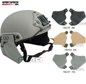 Rubber Side Protector Ears Covers For Airsoft Painball Tactical Fast Rail Helmet