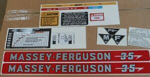 Massey Ferguson 35 Decals Complete Set All Decals On Tractor See Details