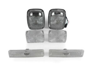 Clear Tail Front Bumper Side Marker Lights For 1994 1995 Jeep Yj Wrangler
