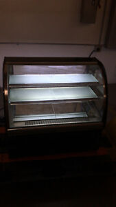 Used Commercial Countertop Cake Showcase Glass Refrigerated Display Case 220v