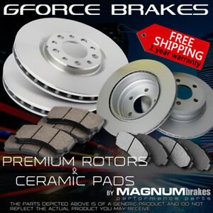 Front rear Rotors Ceramic Pads For 1999 2004 Ford Mustang non svt Cobra