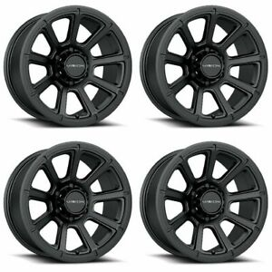 Set 4 16 Vision 353 Turbine Black Wheel 16x8 5x4 5 0mm Ford Ranger Jeep 5 Lug