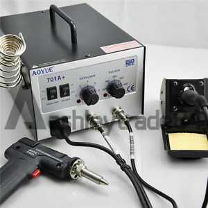 220v Aoyue 701a 2 In1 Hot Air Rework Station With Soldering Iron Repair Tool