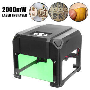 2000mw Desktop Laser Engraving Machine Logo Marking Engraver Range 80 80mm Diy