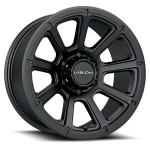 17 Vision 353 Turbine Black Wheel 17x8 5 8x6 5 18mm Chevy Gmc Dodge 8 Lug Truck