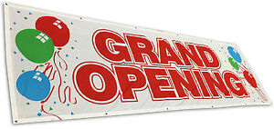 3x10 Ft Grand Opening Banner Sign Store Sale Retail Polyester Fabric Wb