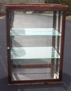 Vintage Antique Glass Wood General Store Cabinet Pick Up In Pa Only
