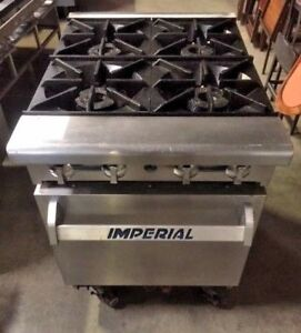 Imperial Ir 4 24 4 Open Burner Range With Oven Stove Commercial Stainless Steel