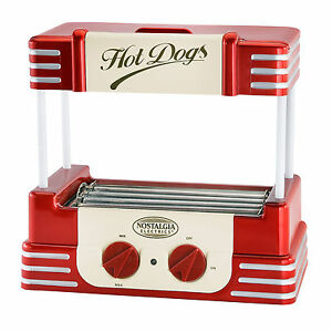 Retro Hot Dog Sausage Cooker Roller Grill Machine Nostalgia Electrics Rhd 800