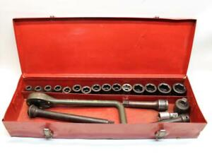 21 Piece Allen Usa 1 2 Drive Impact Socket Set W Extensions And Hard Case