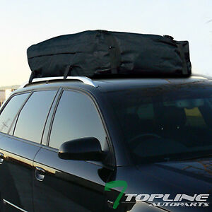 Universal Black Rainproof Roof Top Cargo Rack Carrier Bag Travel Luggage Storage