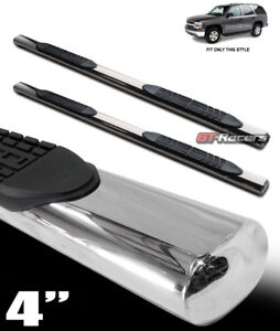 For 00 14 Tahoe Yukon 02 Escalade 4 Chrome Side Step Nerf Bars Running Boards