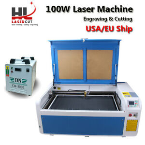 100w Laser Cut Engraving Machine auto Focus linear Guide rd wifi cw5000 Chiller