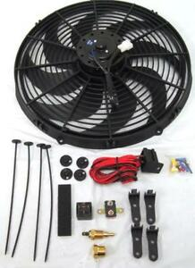 16 Inch Electric Radiator Fan High 3000 Cfm Thermostat Wiring Relay Kit 210