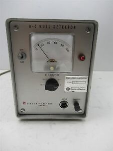 Leeds Northrup 9844 Ac Null Detector Vintage Lab Analog Benchtop Unit Portable