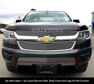 Fits 2015 2018 Chevy Colorado Billet Grille Combo