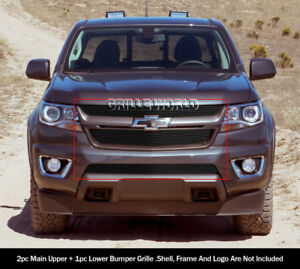 Fits 2015 2018 Chevy Colorado Black Billet Grille Combo