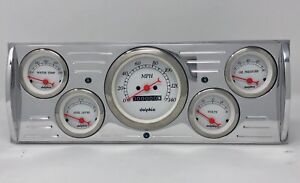 1941 1942 1943 1944 1945 1946 Chevy Truck 5 Gauge Dash Cluster White