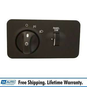 Headlight Lamp Switch Assembly For 99 00 Ford F250 F350 Super Duty Truck New