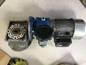 Motovario T63c2 Motor W Variable Speed Gear Box And Drive 230 400 460 V 3ph