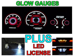 Type R Style Red Glow Gauge Face Led Bulbs For 1996 2000 Honda Civic Lx Ex
