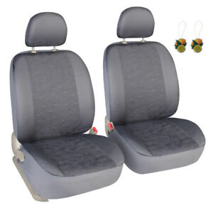Grey Seat Covers For Cars Suv Trucks Universal Fit Two Front Low Back Covers