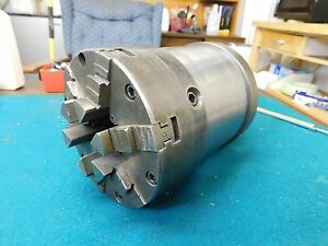 Buck 5 0 6 Jaw Lathe Chuck With Hardinge Adapter Plate And 3 0 Steel Extension