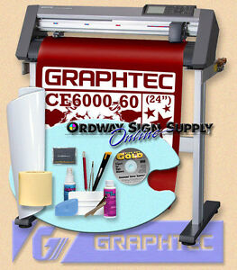 Graphtec Ce6000 60 24 Vinyl Plotter Cutter W Stand Accessories Wrnty Obo