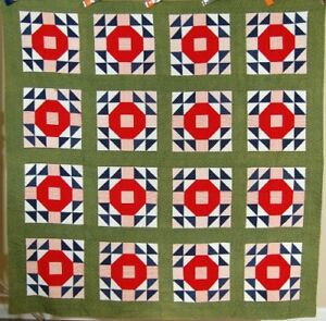 Elegant Vintage 1870 S Crown Of Thorns Antique Quilts Vibrant Early Fabrics