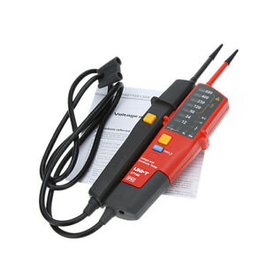 Uni t Ut18b Auto Range Voltage And Continuity Tester With Rcd Test Led Indicatio